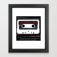 ANALOG - CASSETTE Framed Art Print