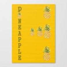 Kitchen Pineapple Canvas Print