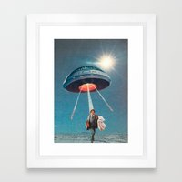 Space Juice Framed Art Print