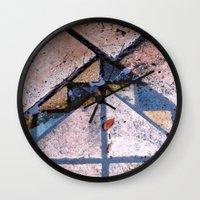 Balcony Tiles In The Rai… Wall Clock