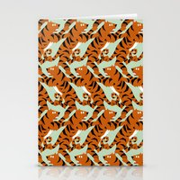 Tiger Conga pattern Stationery Cards