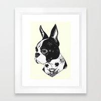 Dog - Tattooed BostonTerrier Framed Art Print