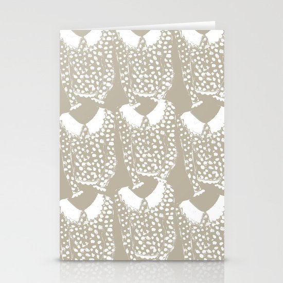 Polka Dot Sweater Stationery Card