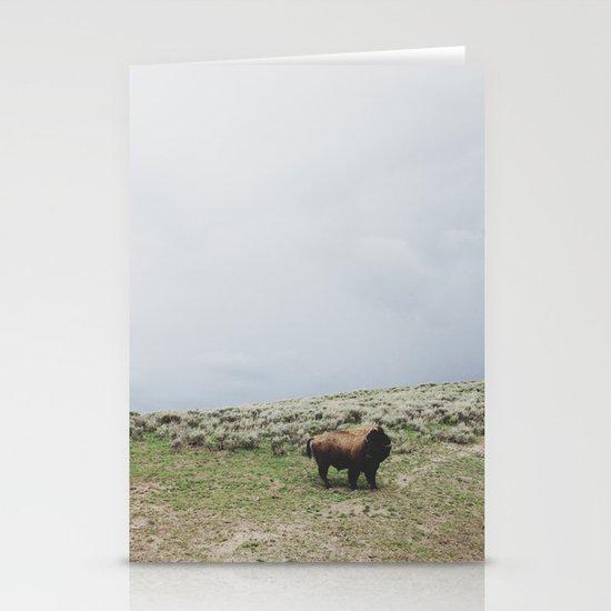 Hillside Bison Stationery Card