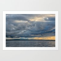 Sunbeams through the Rain Art Print