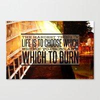 Which Bridge To Cross An… Canvas Print