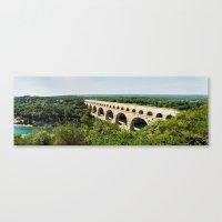 Pont Du Garde Panorama Canvas Print