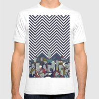 Twin Peaks Mens Fitted Tee White SMALL
