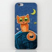 Fabric Cat iPhone & iPod Skin