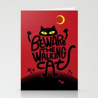 Beware the Walking Cat Stationery Cards