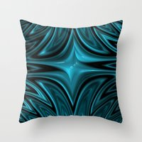 Zigzag In Blue Throw Pillow