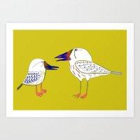 Birds, bird print, bird illustration, kids art, childrens art,  Art Print