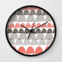Shroom Coral Wall Clock