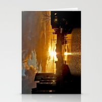 Stationery Card featuring Sunset in Swansea by Becky Dix