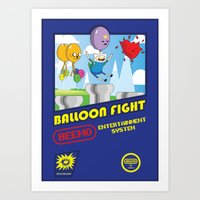 Adventure Time Balloon Fight Art Print