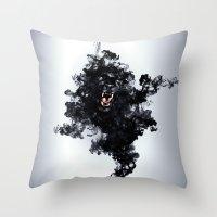 Ink Panther Throw Pillow