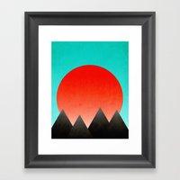 Blood Orange Sunset Framed Art Print