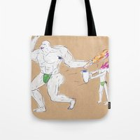 Hercules accidentally kills the boy who brought him a water jar Tote Bag