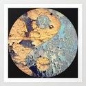 Texture Yin Yang Art Print