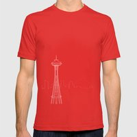 Seattle By Friztin Mens Fitted Tee Red SMALL