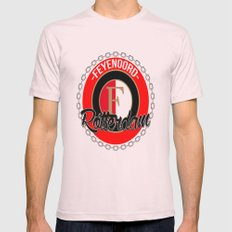 Feyenoord chain Rotterdam crest Mens Fitted Tee Light Pink SMALL