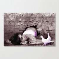 Through The Wall There Is Hope Canvas Print
