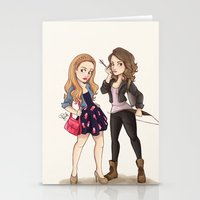 teen wolf Stationery Cards featuring Teen Wolf Ladies by Laia™