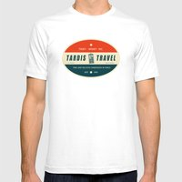 Tardis Travel - Fantasy Travel Logo Mens Fitted Tee White SMALL