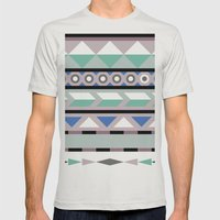 #1 Mens Fitted Tee Silver SMALL