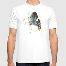 Marvin Gaye White SMALL Mens Fitted Tee