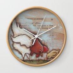Feeling Peckish - by Diane Duda Wall Clock