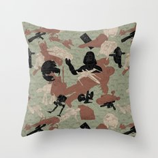 Endor Battle Camo Throw Pillow