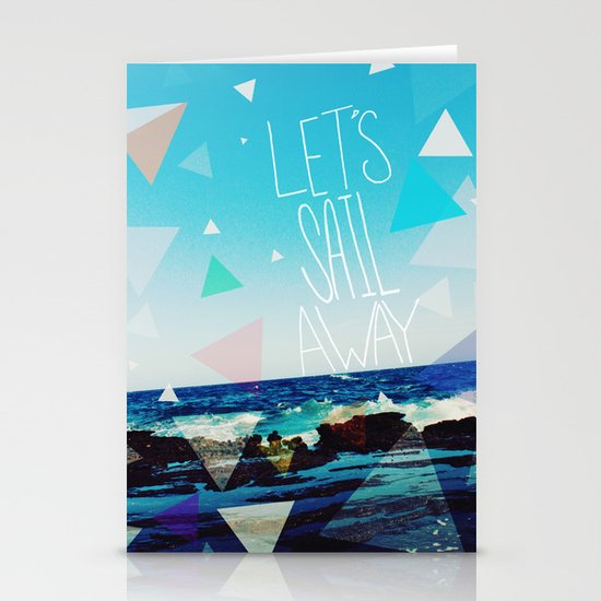 Let's Sail Away Stationery Card