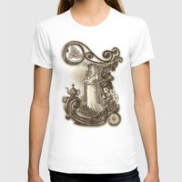 T Is For Tea Womens Fitted Tee White SMALL