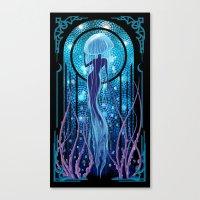 Jellyfish Mermaid Woman Canvas Print