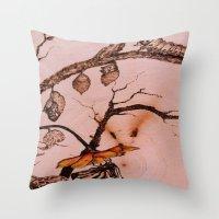 Caterpillar to Butterfly Throw Pillow