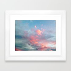 Cotton Candy Sky Framed Art Print