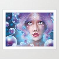Lady Bubble Art Print