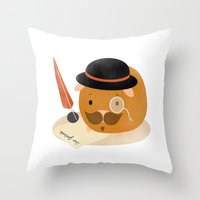 Guinea Pig Portrait 2 Throw Pillow