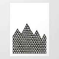 Triangle Peaks Art Print