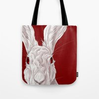 Red Rabbit  Tote Bag