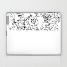 When the Petals Start Pouring Black & White Laptop & iPad Skin