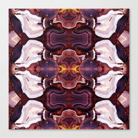 Agate Red In The Face. Canvas Print