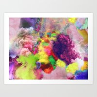 Colorful Smoke And Mirrors Art Print