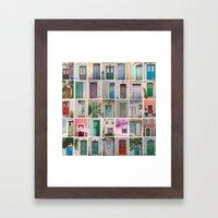 Door Collection Framed Art Print