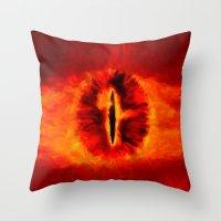 Eye of Sauron - Painting Style Throw Pillow