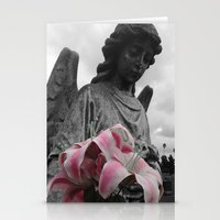 Angel Holding Flowers #2 Stationery Cards