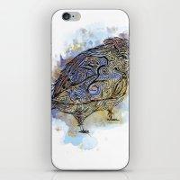 Watercolor Sparrow iPhone & iPod Skin