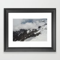Clouds Shrouding Mont Bl… Framed Art Print