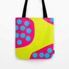 Green Purple Dots Tote Bag
